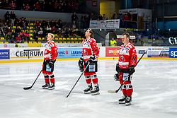 29.02.2020, Ice Rink, Znojmo, CZE, EBEL, HC Orli Znojmo vs HCB Suedtirol Alperia, Viertelfinale, 3. Spiel, im Bild v.l. Robert Flick (HC Orli Znojmo) Taylor Dorethy (HC Orli Znojmo) Brandon Burlon (HC Orli Znojmo) // during the Erste Bank Eishockey League 3rd quarterfinal match between HC Orli Znojmo and HCB Suedtirol Alperia at the Ice Rink in Znojmo, Czech Republic on 2020/02/29. EXPA Pictures © 2020, PhotoCredit: EXPA/ Rostislav Pfeffer