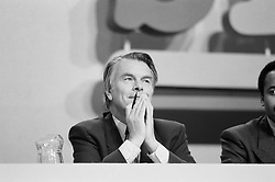 SDP leader Dr David Owen during the party conference in Scarborough.