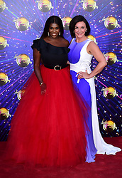 Motsi Mabuse and Shirley Ballas arriving at the red carpet launch of Strictly Come Dancing 2019, held at BBC TV Centre in London, UK.