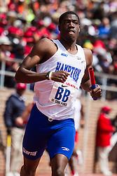 college men 4 x 200 meter relay, IC4A, race #472Hampton