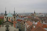 Rooftops over Prague city, Czech Republic<br />