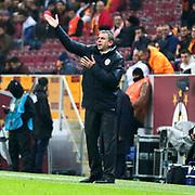 Galatasaray's Coach Hamza Hamzaoglu during their Turkish Super League soccer match Galatasaray between Istanbul Basaksehir at the AliSamiYen Spor Kompleksi TT Arena at Seyrantepe in Istanbul Turkey on Saturday, 14 March 2015. Photo by Aykut AKICI/TURKPIX
