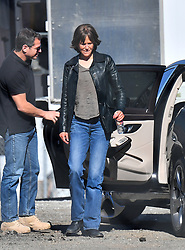 """Nicole Kidman looks absolutely unrecognizable on the set of her new movie """"Destroyer."""" The Australian actress was seen donning a wig and make up to give off a much more rough look. 13 Jan 2018 Pictured: Nicole Kidman. Photo credit: Snorlax / MEGA TheMegaAgency.com +1 888 505 6342"""