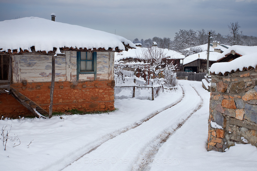 Village of Brashlyan at winter