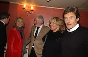 Sinead Cusack, Hugh Hudson, Nigel Havers and  Georgiana Bronfman, Opening night of Embers, Duke of York's theatre. St. Martin's Lane. London. 1 March 2006. ONE TIME USE ONLY - DO NOT ARCHIVE  © Copyright Photograph by Dafydd Jones 66 Stockwell Park Rd. London SW9 0DA Tel 020 7733 0108 www.dafjones.com