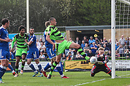 Forest Green Rovers Haydn Hollis goes close during the EFL Sky Bet League 2 match between Forest Green Rovers and Chesterfield at the New Lawn, Forest Green, United Kingdom on 21 April 2018. Picture by Shane Healey.