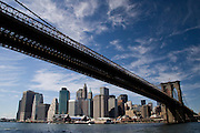 The Brooklyn Bridge and Lower Manhattan