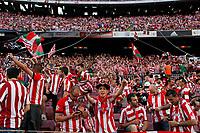 Athletic de Bilbao´s supporters during 2014-15 Copa del Rey final match between Barcelona and Athletic de Bilbao at Camp Nou stadium in Barcelona, Spain. May 30, 2015. (ALTERPHOTOS/Victor Blanco)
