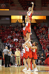 18 March 2015:   Redbird Cheerleaders during an NIT men's basketball game between the Green Bay Phoenix and the Illinois State Redbirds at Redbird Arena in Normal Illinois
