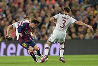 Fotball<br /> Tyskland<br /> 06.05.2015<br /> Foto: Witters/Digitalsport<br /> NORWAY ONLY<br /> <br /> v.l. Bastian Schweinsteiger, Lionel Messi (Barcelona), Xabi Alonso<br /> <br /> Fussball, Champions League, Halbfinale Hinspiel, FC Barcelona - FC Bayern München