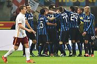 Esultanza Gol Gary Medel Inter Goal celebration con Marcelo Brozovic <br /> Milano 31-10-2015 Stadio Giuseppe Meazza / San Siro Football Calcio Serie A 2015/2016 Inter - AS Roma Foto Andrea Staccioli / Insidefoto