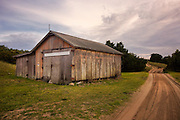 An old farmshed off of a North Carolina dirt road