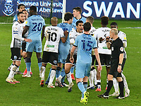 Football - 2020 / 2021 Sky Bet Championship - Swansea City vs Coventry City - Liberty Stadium<br /> <br /> Tempers become frayed in the 2nd half<br /> <br /> COLORSPORT/WINSTON BYNORTH