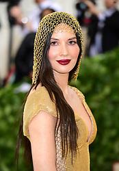 Olivia Munn attending the Metropolitan Museum of Art Costume Institute Benefit Gala 2018 in New York, USA.