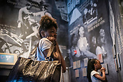 MONTGOMERY, AL -- 5/25/17 -- The Civil Rights Memorial Center is located in the former headquarters of the Southern Poverty Law Center. Dedicated to telling the story of the Civil Rights Movement, the museum sees 40,000 visitors a year. Amarie Williams, 12, left, and Destini Tucker, 8, read about Civil Rights history.<br /> Civil Rights attorney Morris Dees co-founded the Southern Poverty Law Center in 1971. The group has taken on the Ku Klux Klan and fought for against hate for decades, but is now facing criticism that it has labeled some groups without just cause..…by André Chung #_AC17557
