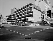 """Ackroyd 13228-2. """"Donald Drake & Co. Central Plaza Parking garage. April 11, 1965"""" (337 SW Alder. SW 4th between Washington & Alder)"""