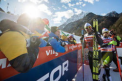 Noeckler Dietmar and Pellegrino Federico of Italy with fans during 6 x 1.2 km Team Sprint Free race at FIS Cross Country World Cup Planica 2016, on January 17, 2016 at Planica, Slovenia. Photo By Grega Valancic / Sportida