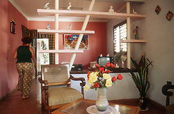 Interior of Cuban house at Vinales; one of many bed and breakfast venues,
