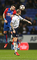 Football - 2016 / 2017 FA Cup - Third Round: Bolton Wanderers vs. Crystal Palace<br /> <br /> Damien Delaney of Crystal Palace and David Wheater of Bolton Wanderers during the match at Macron Stadium.<br /> <br /> COLORSPORT/LYNNE CAMERON