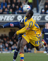 Photo: Ashley Pickering.<br />Southend United v Leicester City. Coca Cola Championship. 03/03/2007.<br />Elvis Hammond of Leicester (R) and Efe Sodje of Southend