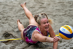 Lezana Placette FRA in action during the third day of the beach volleyball event King of the Court at Jaarbeursplein on September 11, 2020 in Utrecht.