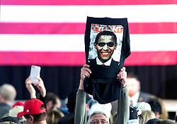 Oct.18, 2016 - Colorado Springs, Colorado, U.S. -  A Donald Trump supporter holds aloft a t shirt during a Trump rally at the Norris Penrose Event Center.(Credit Image: © Brian Cahn via ZUMA Wire)