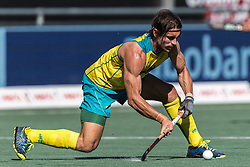 Jeremy Hayward of Australia during the Champions Trophy finale between the Australia and India on the fields of BH&BC Breda on Juli 1, 2018 in Breda, the Netherlands.