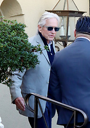 Kirk Douglas friends and family gather at Kirks home in Beverly Hills after the funeral, the 103 year old star from the golden age of Hollywood died earlier this week. 07 Feb 2020 Pictured: Michael Douglas. Photo credit: APEX / MEGA TheMegaAgency.com +1 888 505 6342