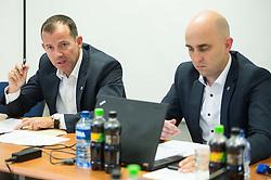 Enzo Smrekar, president and Jozko Krizan, new director during meeting of Executive Committee of Ski Association of Slovenia (SZS) on September 22, 2015 in SZS, Ljubljana, Slovenia. Photo by Vid Ponikvar / Sportida