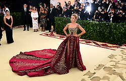 Blake Lively attending the Metropolitan Museum of Art Costume Institute Benefit Gala 2018 in New York, USA.