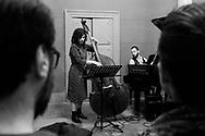 Ilaria Capalbo and Stefano Falcone (Invisible Atlas) live at Palazzo Venezia. Naples, Italy. 2017.