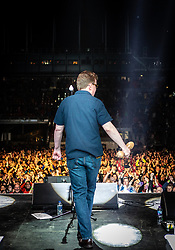 The Proclaimers at Edinburgh Castle 21 July 2019; The Proclaimers play their home town with a live show at Edinburgh Castle. Charlie Reid enjoys the fans adulation after the encore.<br /> <br /> (c) Chris McCluskie | Edinburgh Elite media