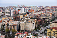 Spain, Barcelona. View from Sagrada Família.