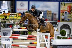 CARTON-GROOTJANS Ann (BEL), Kai Licha de Carmel<br /> Grand Prix von Volkswagen<br /> Int. jumping competition over two rounds (1.55 m) - CSI3*<br /> Comp. counts for the LONGINES Rankings<br /> Braunschweig - Classico 2020<br /> 08. März 2020<br /> © www.sportfotos-lafrentz.de/Stefan Lafrentz