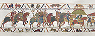 Bayeux Tapestry  Scene 16 - Williams asks Harold to joint him in war against Conan Duke of Britany. BYX16,