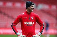 Middlesbrough's Sol Brynn during the pre-match warm-up <br /> <br /> Photographer Alex Dodd/CameraSport<br /> <br /> The EFL Sky Bet Championship - Middlesbrough v Wycombe Wanderers - Saturday 8th May 2021 - Riverside Stadium - Middlesbrough<br /> <br /> World Copyright © 2021 CameraSport. All rights reserved. 43 Linden Ave. Countesthorpe. Leicester. England. LE8 5PG - Tel: +44 (0) 116 277 4147 - admin@camerasport.com - www.camerasport.com