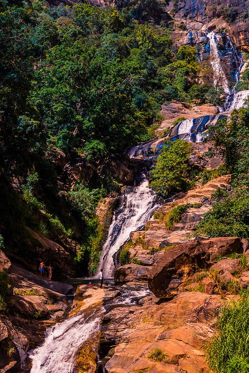 Rawana Falls, near Ella, Uva Province, Sri Lanka.
