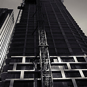 Contruction of  CetraRuddy building rising on the site of the former Roseland Ballroom in midtown Manhattan during the real estate boom of the twenty teens