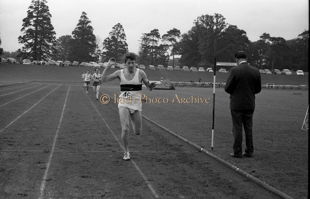 17/07/1967<br /> 07/17/1967<br /> 17 July 1967<br /> International Athletics at Santry Stadium, Dublin. Image shows D. Byrne, Donore Harriers, winning the Men's One Mile Final.