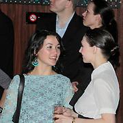 NLD/Amsterdam/20110328 - Uitreking Rembrandt Awards 2011, Birgit Schuurman in gesprek met Carice van Houten