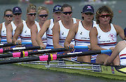 Lucerne, SWITZERLAND, GBR W8+. Guin BATTEN, Katherine, GRAINGER, Cath BISHOP, Frances HAUGHTON. Alison TRICKEY, Debbie FLOOD, Alex BEEVER, World Rowing Championships 2001, held on Lake Rotsee, 19.08.2001. Photo. Peter Spurrier/Intersport Images 20010819 FISA World Rowing Championships, Lucerne, SWITZERLAND