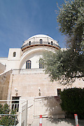 Israel, Jerusalem, Old City, Jewish Quarters, the recently reconstructed RAMBAN Synagogue (AKA The Hurva Synagogue). The Synagogues was destroyed in 1948