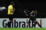 Blair Kinghorn touches down try during the Guinness Pro 14 2017_18 match between Edinburgh Rugby and Ospreys at Myreside Stadium, Edinburgh, Scotland on 4 November 2017. Photo by Kevin Murray.