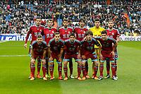 Real Sociedad´s initial team players during La Liga match between Real Madrid and Real Sociedad at Santiago Bernabeu stadium in Madrid, Spain. December 30, 2015. (ALTERPHOTOS/Victor Blanco)