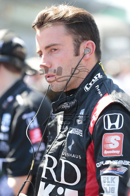 JAMES DAVIDSON (33) of Australia prepares to qualify for the Indianapolis 500 at Indianapolis Motor Speedway in Indianapolis, Indiana.