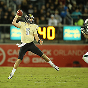 UCF Knights quarterback Blake Bortles (5) during an NCAA football game between the South Florida Bulls and the 17th ranked University of Central Florida Knights at Bright House Networks Stadium on Friday, November 29, 2013 in Orlando, Florida. (AP Photo/Alex Menendez)