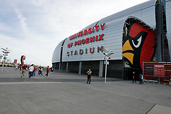 18 Jan 2009: A view from outside University of Phoenix Stadium before the NFC Championship game between the Philadelphia Eagles and the Arizona Cardinals on January 18th, 2009. The Cardinals won 32-25 at University of Phoenix Stadium in Glendale, Arizona. (Photo by Brian Garfinkel)
