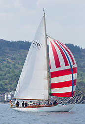 Sailing - SCOTLAND  - 26th May 2018<br /> <br /> 2nd days racing the Scottish Series 2018, organised by the  Clyde Cruising Club, with racing on Loch Fyne from 25th-28th May 2018<br /> <br /> 312C, Kelana, Mrs Marjorie Grant, RNCYC, McGruer sloop<br /> <br /> Credit : Marc Turner<br /> <br /> Event is supported by Helly Hansen, Luddon, Silvers Marine, Tunnocks, Hempel and Argyll & Bute Council along with Bowmore, The Botanist and The Botanist