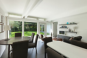 Architecture, open space of a modern house, dining room