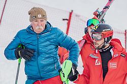29.01.2019, Planai, Schladming, AUT, FIS Weltcup Ski Alpin, Slalom, Herren, Streckenbesichtigung, im Bild v.l.: Vater Ferdinand Hirscher, Marcel Hirscher (AUT) // f.l.: Father Ferdinand Hirscher Marcel Hirscher of Austria during course inspection for the men's Slalom of FIS ski alpine world cup at the Planai in Schladming, Austria on 2019/01/29. EXPA Pictures © 2019, PhotoCredit: EXPA/ Dominik Angerer